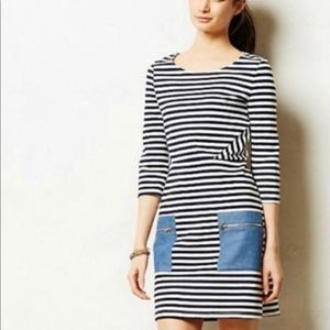Anthropologie Tabitha Striped Marin Dress